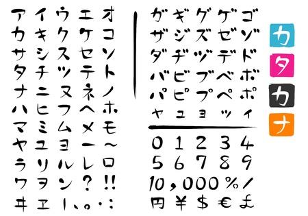 Japanese characters ; KATAKANA