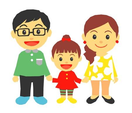 父、母、娘