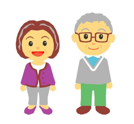 casal de idosos Ilustra��o