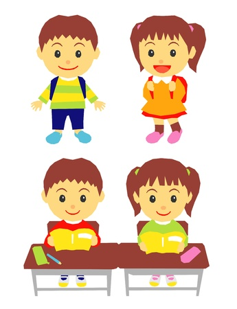 school kids, in class Vector