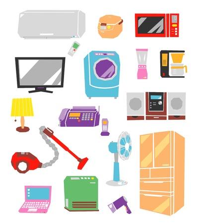 electric appliances, major household appliances, set