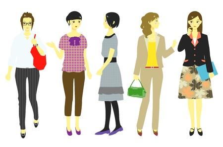businesswoman skirt: women, office workers, students