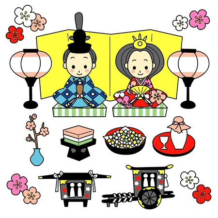 Hinamatsuri  the Dolls  Festival of Japan  Vector