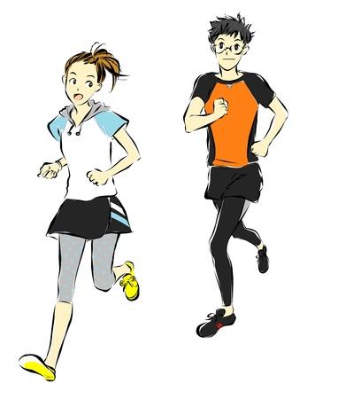 athletes, runners Stock fotó - 19843086