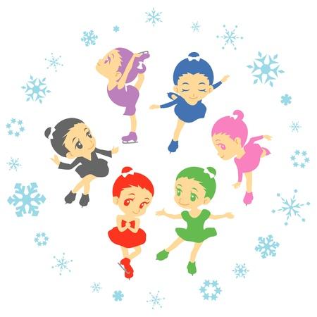 Eiskunstlauf Vektorgrafik