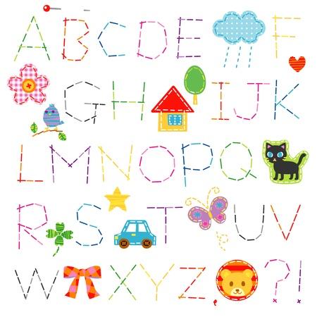 알파벳, 스티치, 글꼴