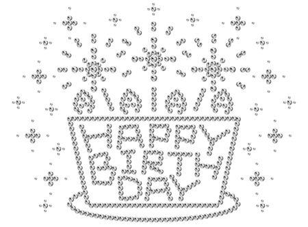 幸せな誕生日、ラインス トーン  イラスト・ベクター素材