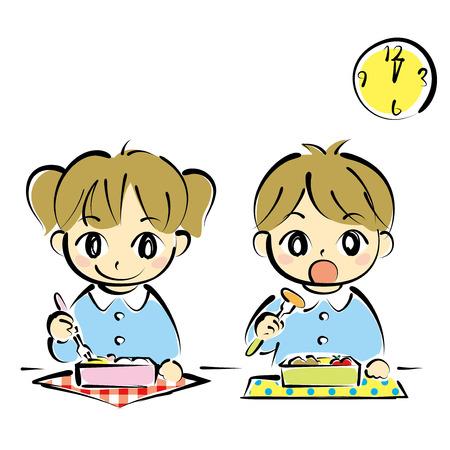 kid eat: ni�os en la hora del almuerzo