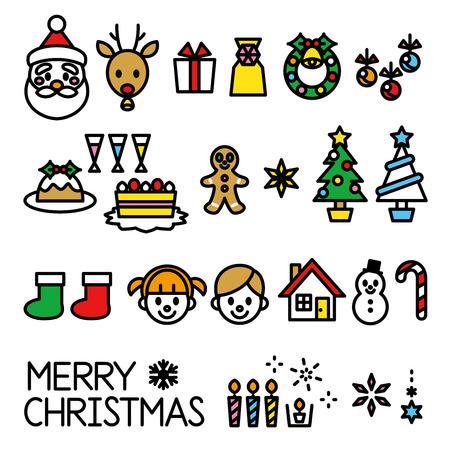 christmas set Illusztráció