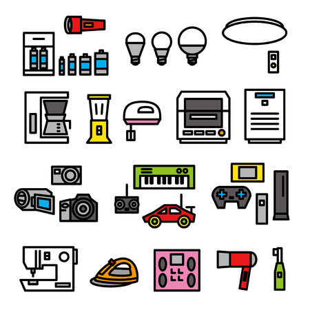 electric appliances Vector