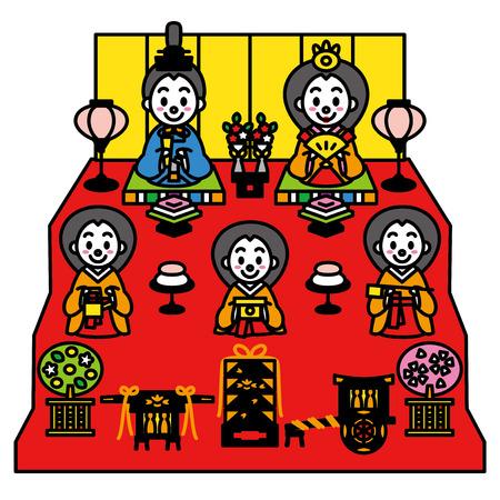 히나 마츠리, 일본의 인형 축제 일러스트