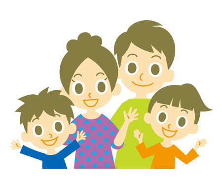 家族  イラスト・ベクター素材