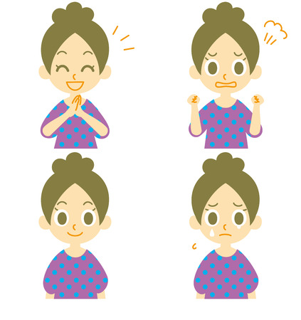 woman expressions 02 Vector