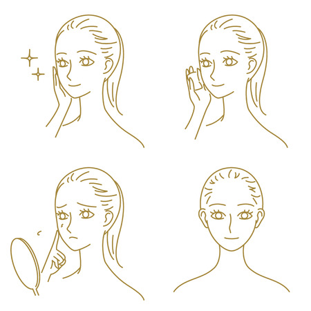 skin care, woman Vector