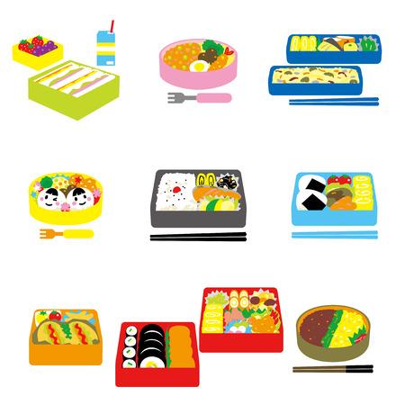 Giapponese BENTO, lunch box, scatola di bento