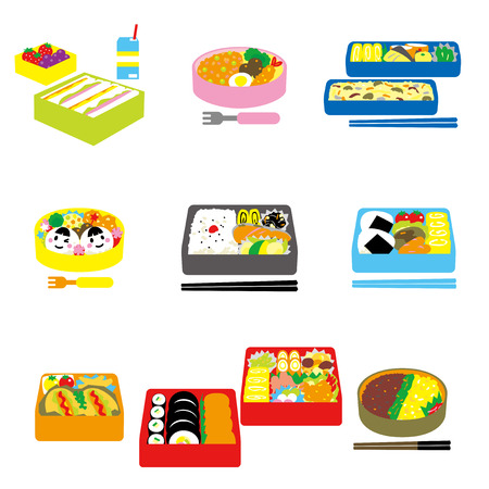 lunch box: Japanese BENTO, box lunch, bento box