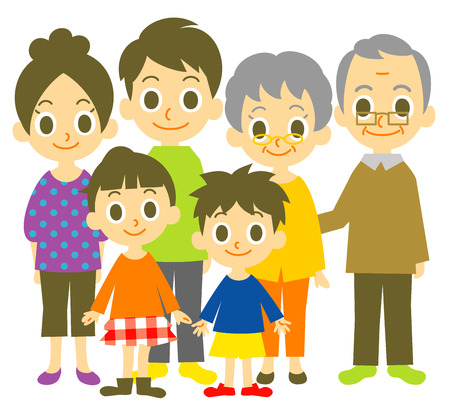 family isolated: Family Illustration