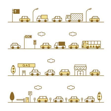 streetlight: traffic sepia color Illustration