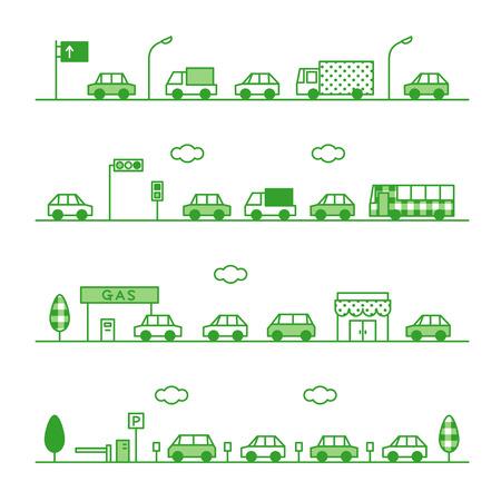 トラフィックの緑の色  イラスト・ベクター素材