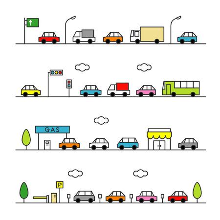 traffic gray color Illusztráció