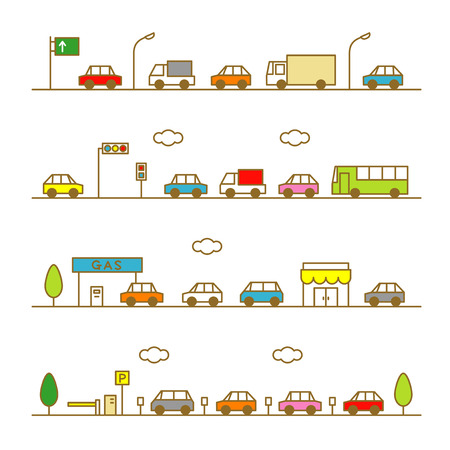 the traffic jam: traffic Illustration