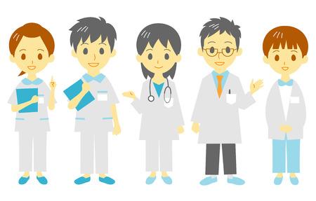 medical staff: medical staff Illustration