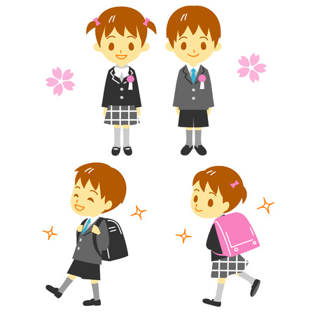 First year elementary school student Vector