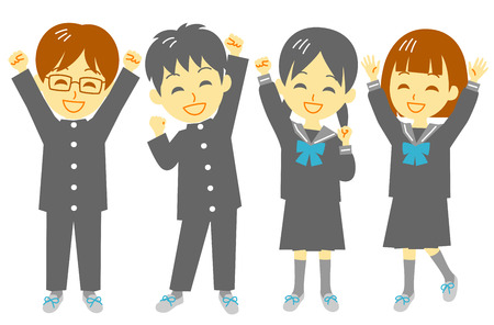 school uniform: Student, shout for joy