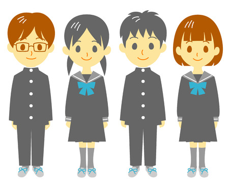 school uniform: Student Illustration