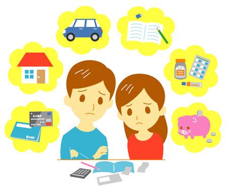 calculator: Managing family finances, expenditure, couple