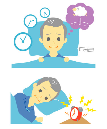 Insomnia, sleeplessness, old man
