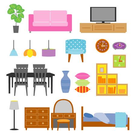 pendant lamp: Furniture set Illustration