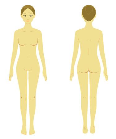 woman body model naked Illustration