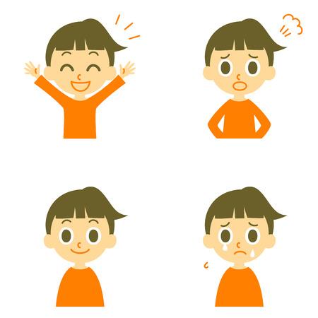 Meisje vreugdevolle boos huilen Stock Illustratie