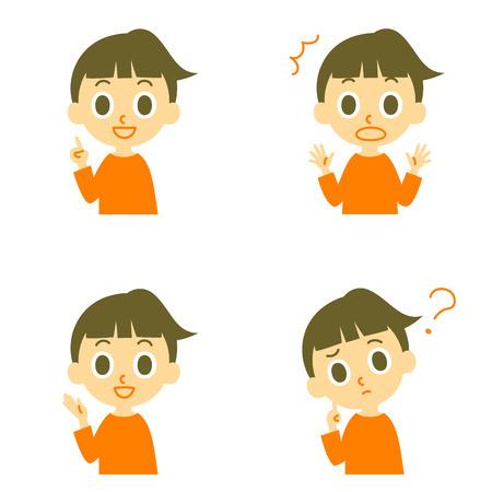 dudas: Chica hablando sorprendió confusa Vectores