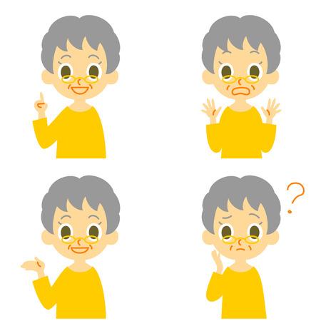 alte frau: Alte Frau sprechen �berrascht verwirrt