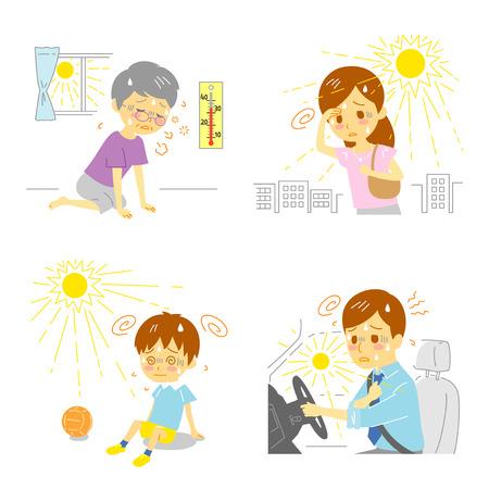 sudoracion: El agotamiento de calor El golpe de calor