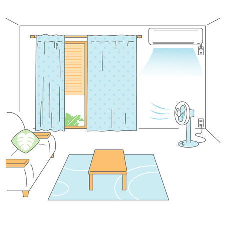 cooler: Preparing room for summer heat Illustration