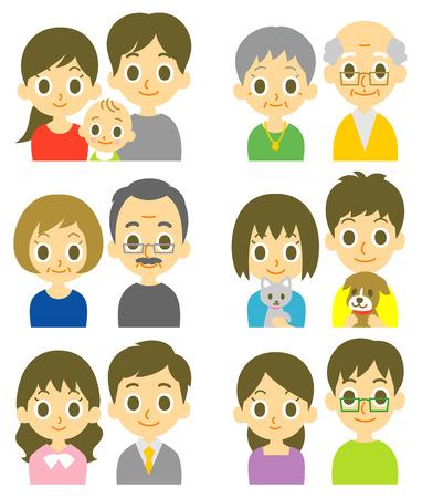 volto uomo: Coppie giovani e senior
