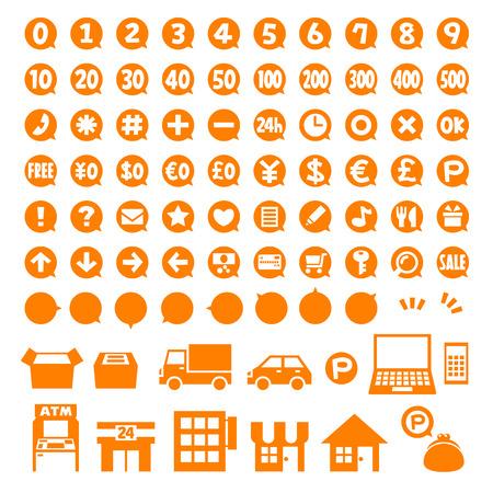 Punto icono de monedas set 02 Ilustración de vector