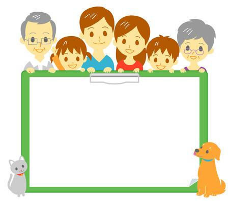 copy: Family clipboard copy space