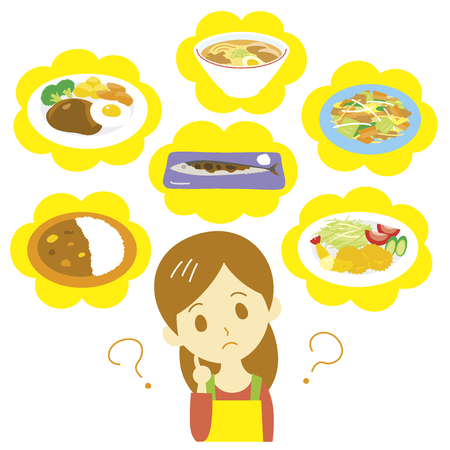 fried noodles: Meal planning Illustration