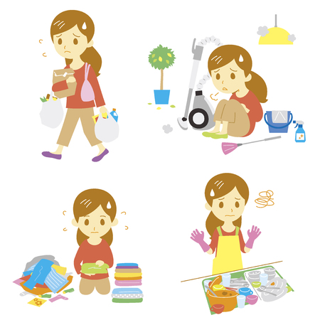 annoying: annoying household chores Illustration