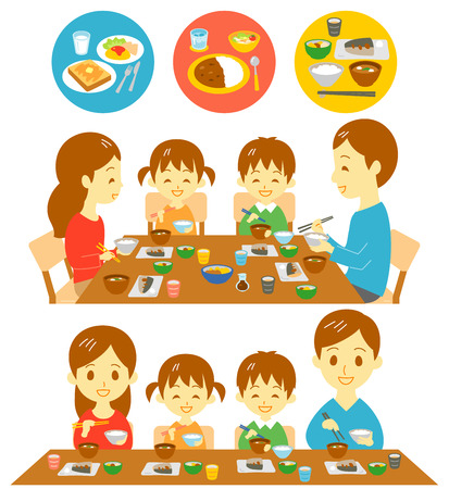Family Japanese meals