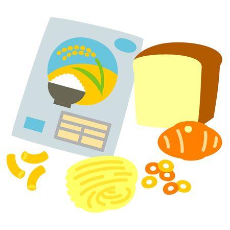 ご飯とパンのパスタ