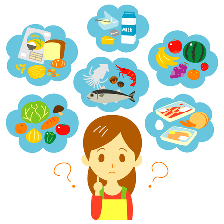 Nutritional balance thinking woman