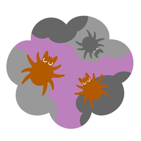 house dust mites, illustration