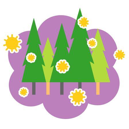 cedar pollen, illustration