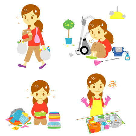 Annoying household chores, vector file
