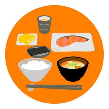 Japanese fish dish breakfast Stock Photo
